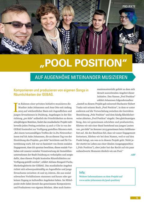 """Aus der GEBAG-Zeitschrift """"Mehr als gewohnt"""", Ausgabe Juni 2015"""