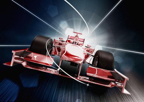 Zeigen Sie Präsenz im Motorsport und in der Formel 1