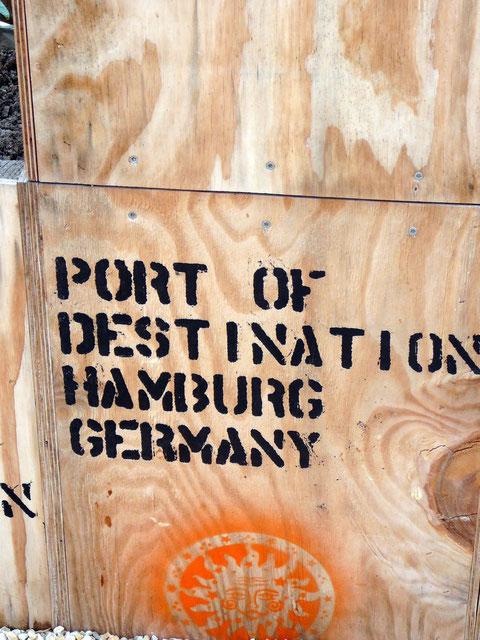 Hier soll der Tee hin! Destination Hamburg