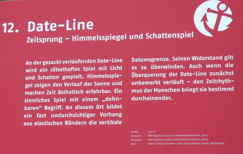 12. Date-Line  Zeitsprung - Himmelsspiegel und Schattenspiel
