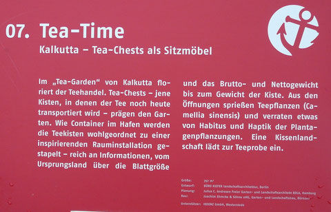 07. Tea-Time  Kalkutta - Tea-Chests als Sitzmöbel