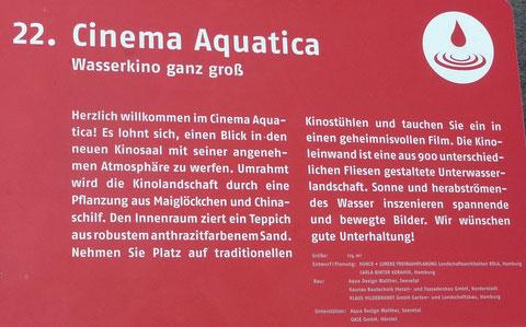 22. Cinema Aquatica  Wasserkino ganz groß