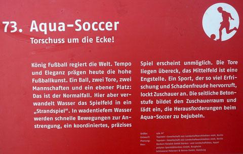 73. Aqua-Soccer  Torschuss um die Ecke!