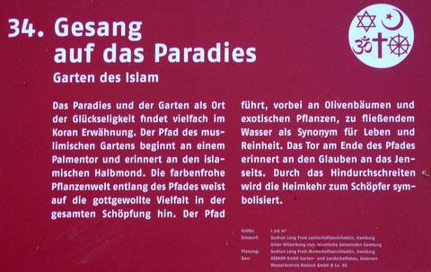 34. Gesang auf das Paradies  Garten des Islam
