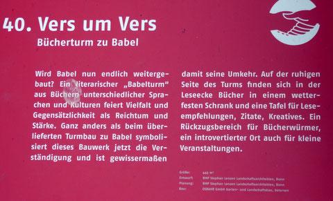 40. Vers um Vers   Bücherturm zu Babel