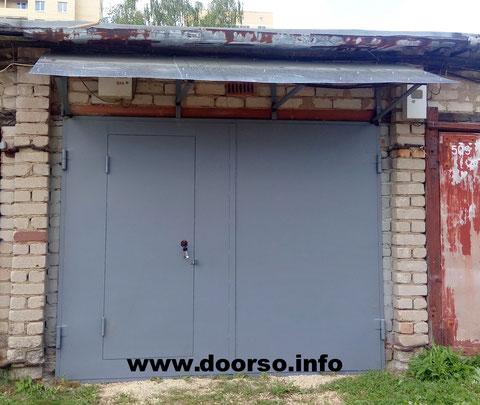 Гаражные ворота+козырек город Руза.