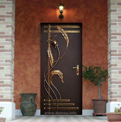 металлическая дверь с ковкой Одинцово.