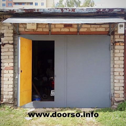 гаражные распашные ворота город Кубинка.