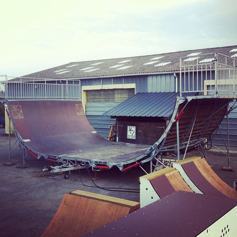 THE EDGE Skatepark - Rampe pliable - Folding rampe