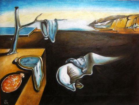 La persistencia de la memoria. Salvador Dalí. 30X40 cm. Oleo sobre lienzo