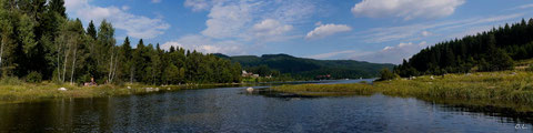 Panorama aus 6 Bildern - Schluchsee - Sommer 2013