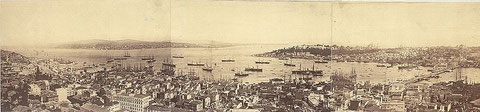 Costantinopoli-panorama 1876