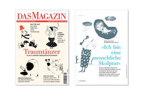 Cover- und Innenillustration für Das Magazin