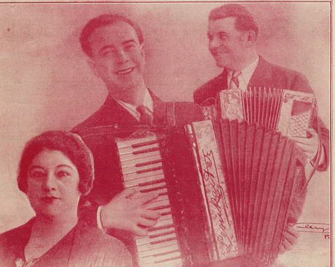 Berthe Sylva, Léon Raiter et Albert Huard