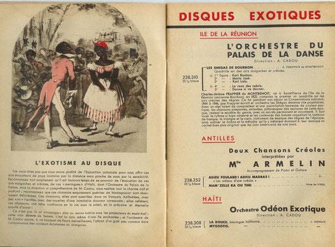 Supplément Odéon Juillet 1931