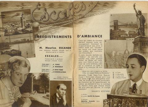 Supplément Odéon Avril 1933