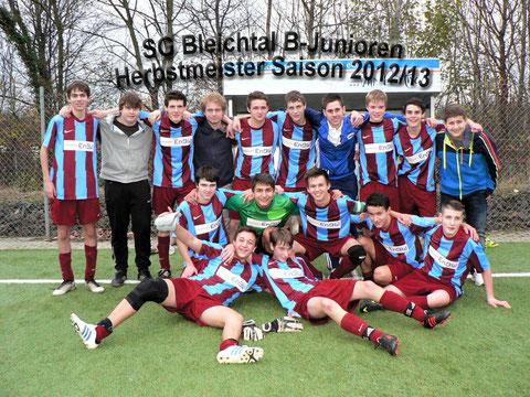B-Junioren SG Bleichtal - Herbstmeister 2012/13