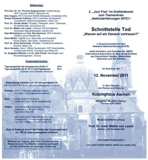Seminarprogramm 12.11.2011,  Außenseiten