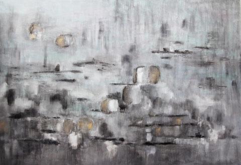 ohne Titel   2018   Acryl auf Leinwand   110 x 160 cm