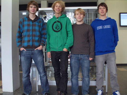 v. l.  Matthias Mosbach, Johannes Kempf, Timo Gerach, Martin Stoffel