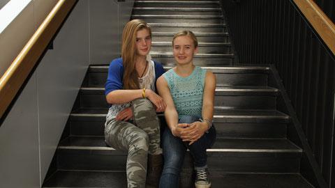 Sarah Langheinz (links) und Hannah Schulz (rechts)