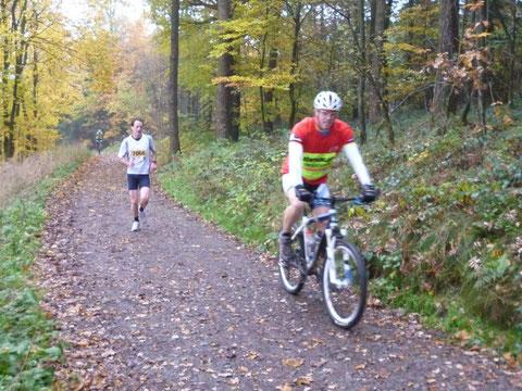 Harald Willms vom Lüttringhauser TV auf den letzten 10 km