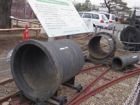 近代水道初期の水道管