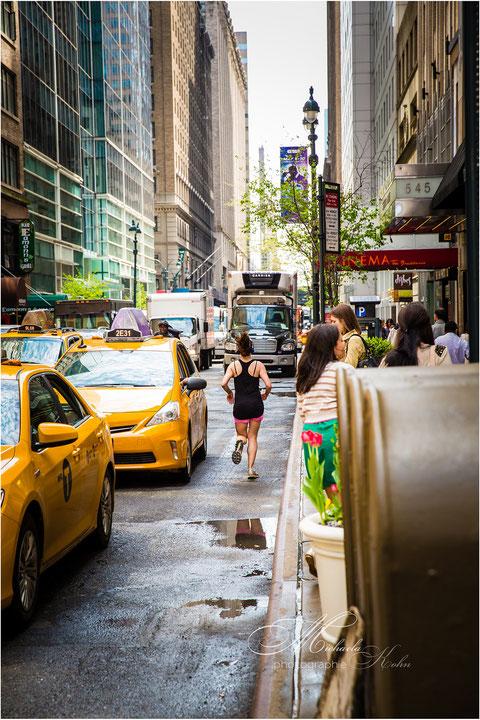 und gejogt wird einfach in der Stadt  und wenn es sein muss auch auf der Straße