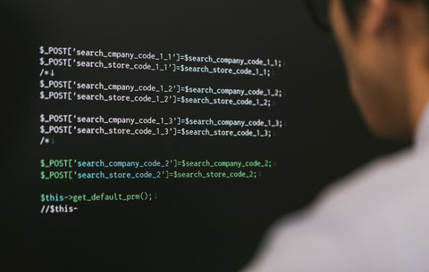 写真:コード内容はイメージです。