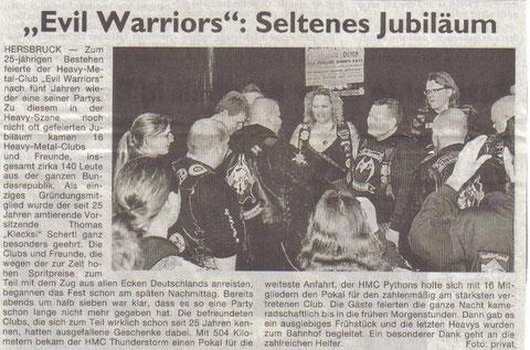 25 Jahresbericht in der Hersbrucker-Zeitung am 04.04.2012