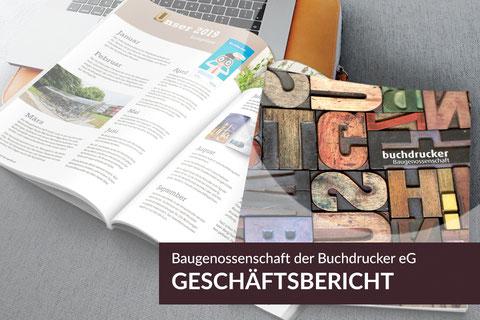 Neue Projekte: Geschäftsbericht 2019, Baugenossenschaft der Buchdrucker