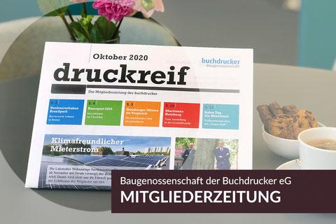 Neue Projekte: Mitgliederzeitung druckreif Oktober 2020, Baugenossenschaft der Buchdrucker
