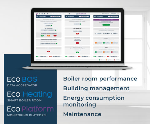OGGA's connected building solution. It allows you to monitor your boiler room performance, make your building become a Smart Building and predict any maintenance