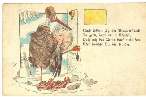 Grußkarte aus dem Jahre 1897