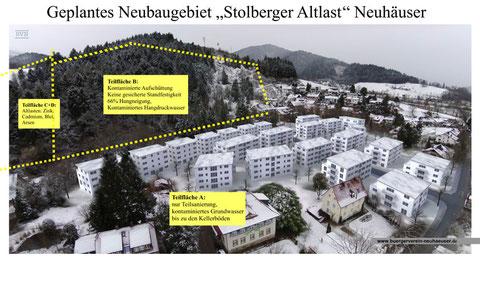 Visualisierung des geplanten Neubaugebietes Stolberg Altlast Neuhäuser, Dr. Eizelle