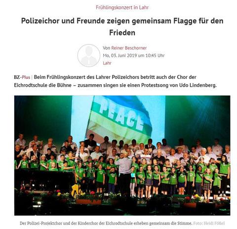 Frühlingskonzert des PSV 2019 Bericht: Badische Zeitung 03.Juni.2019
