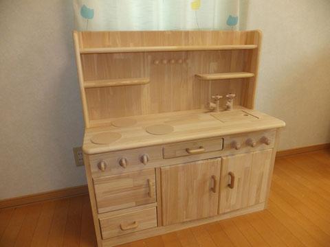 手作り木のキッチン
