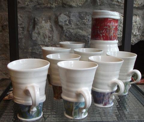 Keramik Teetassen