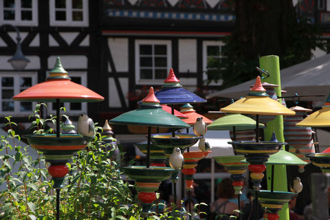 Bild: Vogelhütte, Keramik