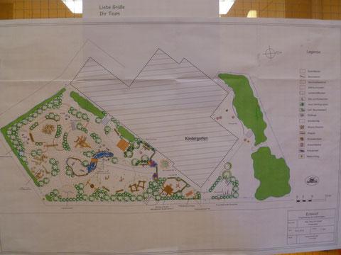 Pläne für den neuen öffentlichen Spielplatz in Fredenbeck