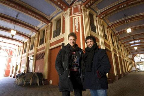 Daniel Diges y Raúl Peña, en Zaragoza, ciudad en la que actuarán del 5 al 14 de abril. Foto:JAIME GALINDO