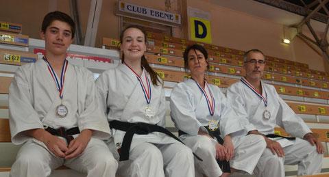 Tom Lemarchand, Chloé Billaudot, Nadège Guillon et Hervé Bussière