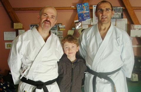 Patrick Prevost, Kilian Prevost et Philippe Boudet à Cléon