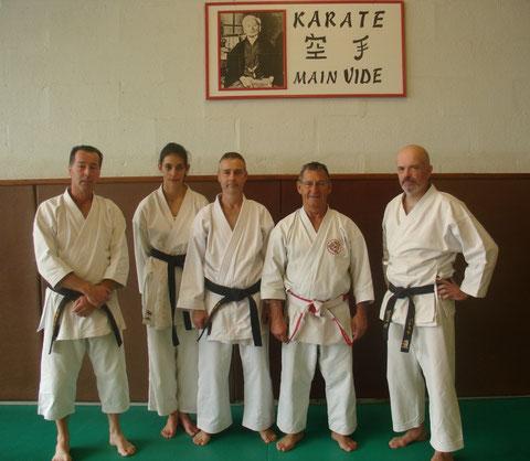 Marc Quilbeuf, Anastasia Daniel, Thierry Tilleul, Yves Kespern et Patrick Prevost