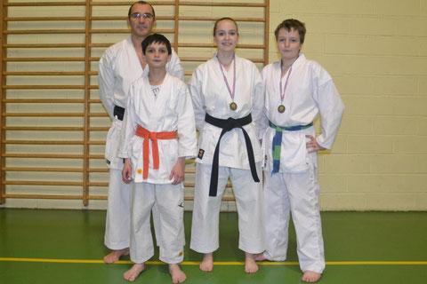 Philippe Boudet, Matthias Monribot, Chloé et Sacha Billaudot
