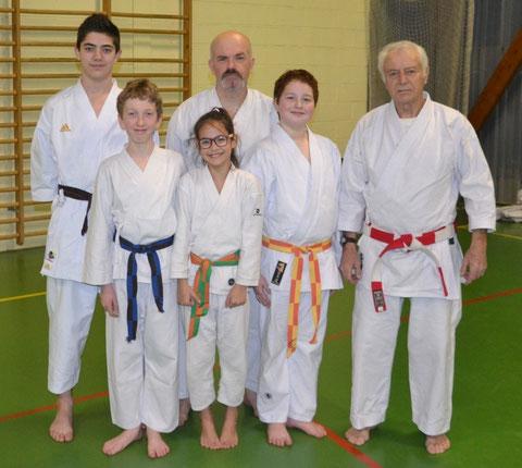 de gauche à droite: Tom Lemarchand, Kilian Prevost, Ninon Chemin, Patrick Prevost, Benjamin Micaux et Jean-Luc Schroll (absent sur la photo: Jérémy Sarrazin)