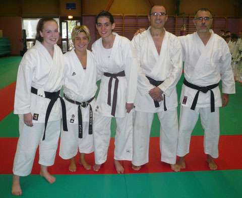 Chloé Billaudot, Sabrina Buil, Anastasia Daniel, Philippe Boudet et Hervé Bussière