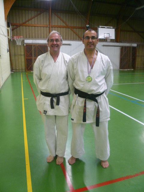 Claude Lemonnier (Président du club) et Philippe Boudet