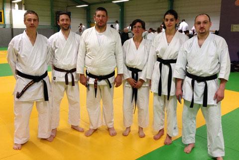 Thierry Tilleul, Yann Laurance, Pascal Piecko, Virginie Clatot, Anastasia Daniel et David Huret