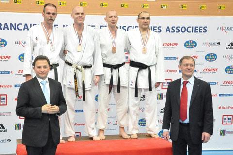 Philippe Boudet sur le podium des championnats de France